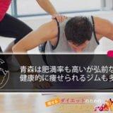 青森は肥満率も高いが弘前など健康的に痩せられるトレーニングジムも多い