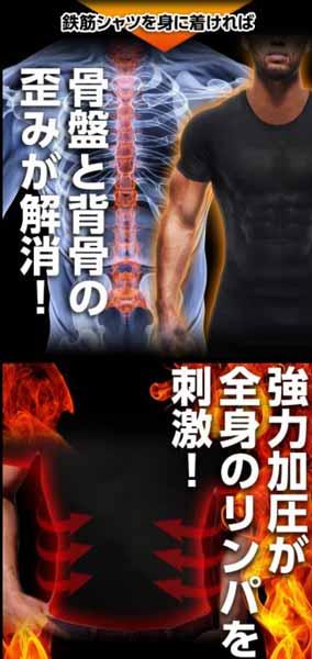 加圧式強力筋肉インナーの鉄筋シャツは着るだけで加圧トレーニングができる!?