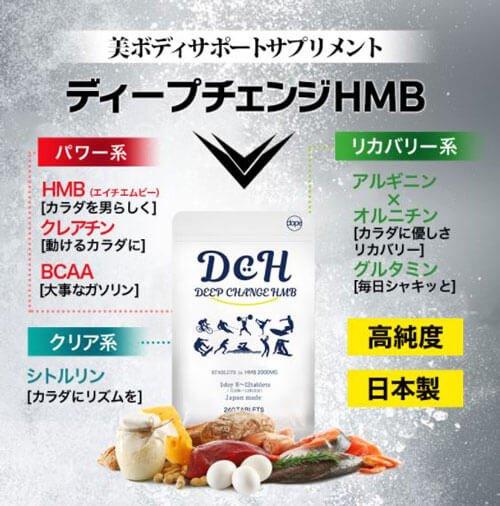 HMBの含有量がすごい!DCHディープチェンジHMBとは?